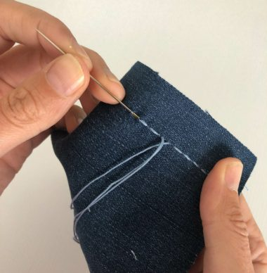 Mending Basics: running stitch