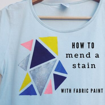 How To Mend A Stain With Fabric Paint