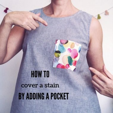 How To Cover A Stain With A Pocket