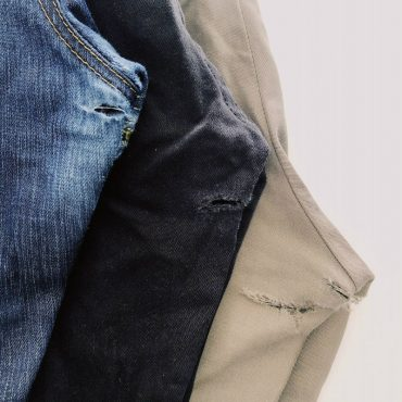 How to Mend the Inner Thigh Area of Jeans or Trousers – Part 2