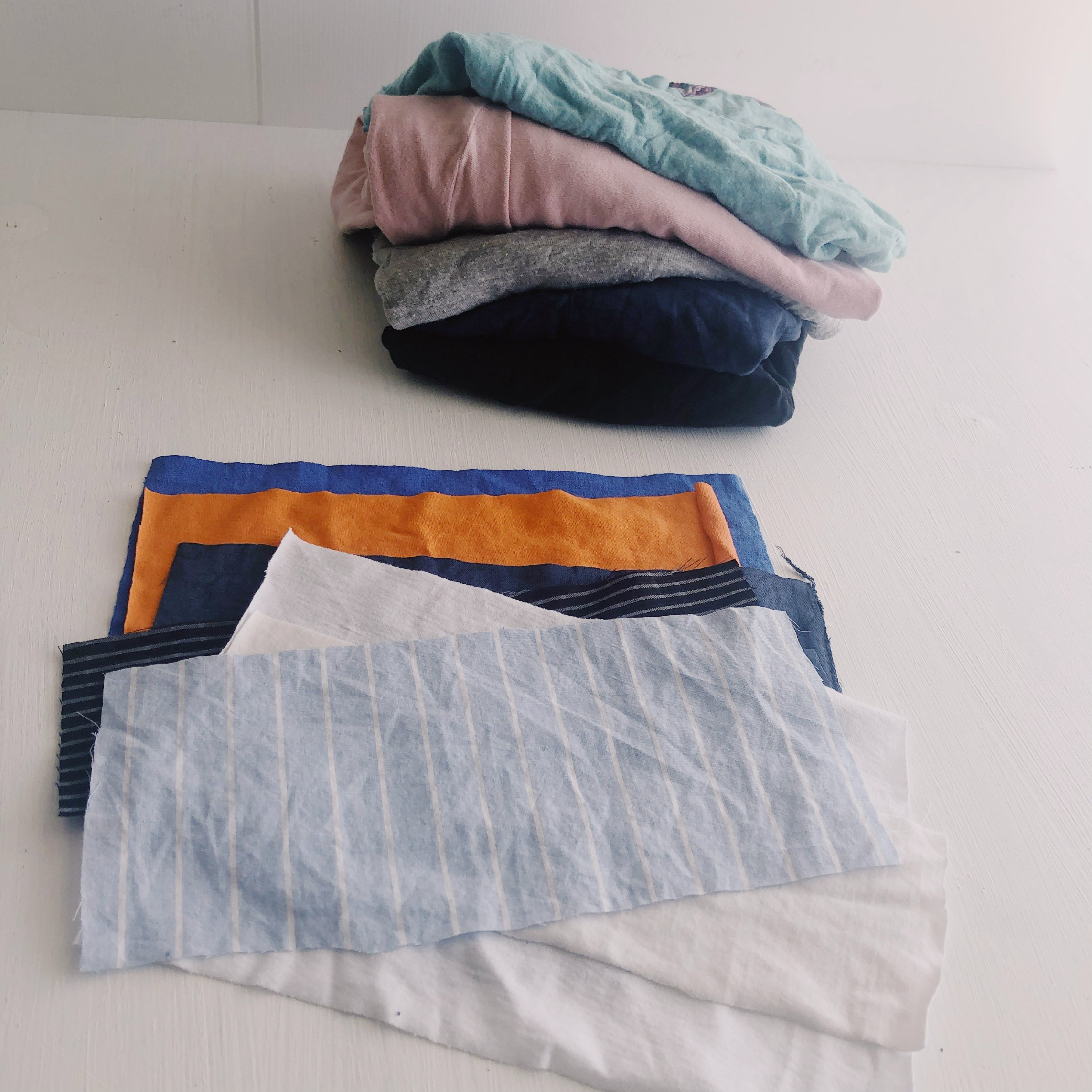 Old clothing used to make bags; upcycling